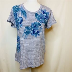 3/$50 NWT Lucky Brand open back floral top tee M